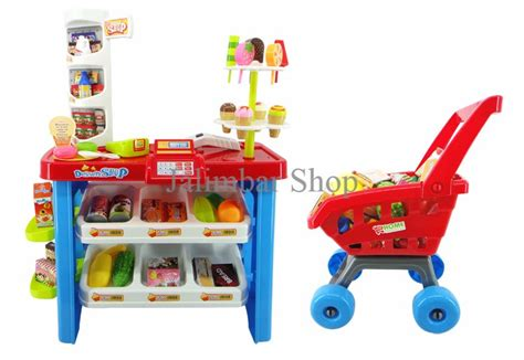 Play Desserts Mainan Shop Limited jual diskon hari ini home market playset 66822 dessert shop play 46pcs murah meriah baru