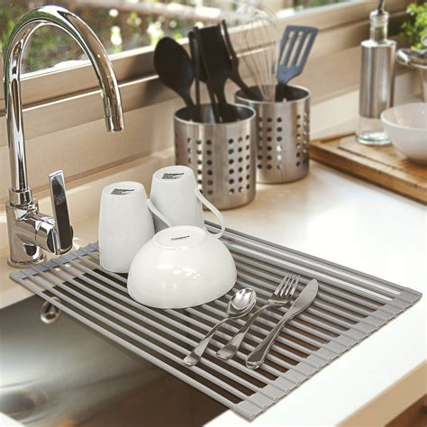 the sink roll up drying rack the sink roll up dish drying rack sorbus