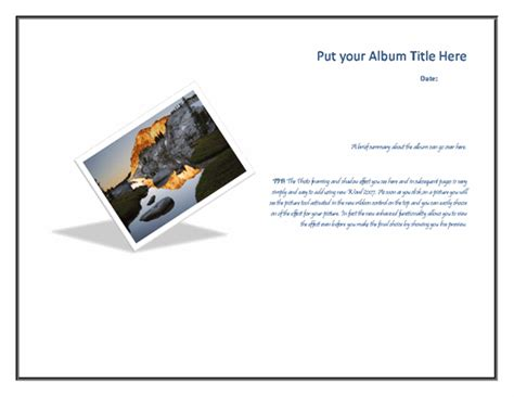 album template custom photo album template free photo album templates
