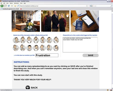 Online Survey Websites - hotel emotions online survey website bluehair interaction product design