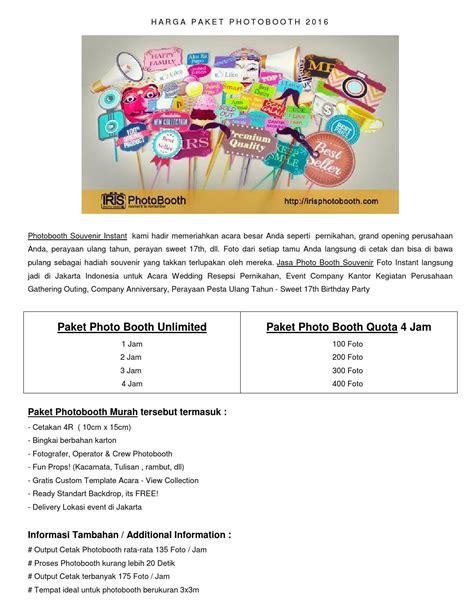 Promo Instant Photobooth Jakarta iris photobooth harga paket photo booth 2016 jakarta by irisphotobooth issuu