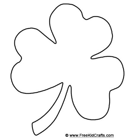 template of shamrock rodricksdb067 shamrock template for st patricks day crafts