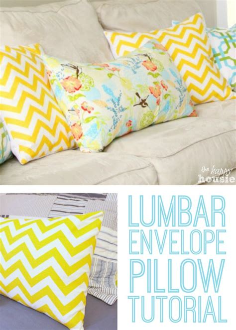 envelope back pillow case pattern lumbar envelope pillow tutorial by the happy housiepillows