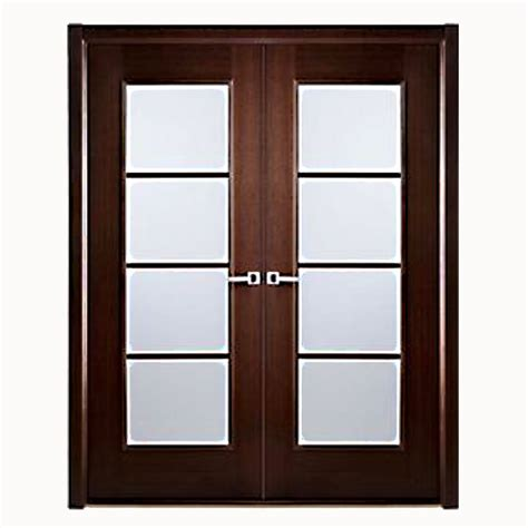 Frosted Glass Panel Interior Doors Aries Interior Door In A Wenge Finish With Frosted Glass Panels 1 1 2 Quot Mdf