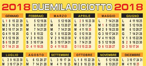 calendario 2018 gratis in pdf da personalizzare