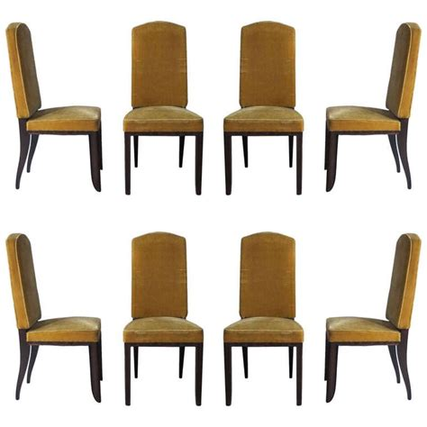 set of eight art deco dining room chairs at 1stdibs set of 8 french art deco dining chairs by paul frechet at