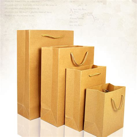 Paper Bag Kraft Besar 25x9x32 Cm 13 15 8cm brown kraft paper shopping bag with handle gift cosmetic perfume packaging for