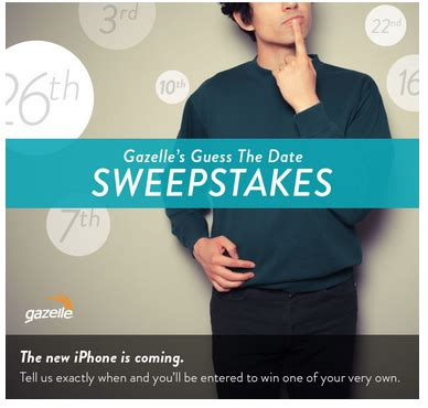 Iphone Sweepstakes 2015 - the new iphone is coming guess the date sweepstakes