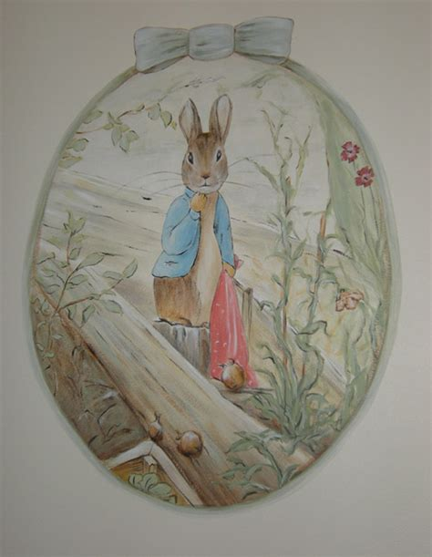 Beatrix Potter Wall Mural classic peter rabbit beatrix potter nursery beatrice
