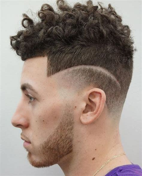 short curly top hair with straight sides curly hairstyles for men 40 ideas for type 2 type 3 and