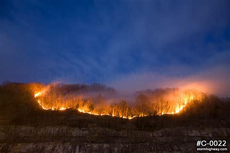 West Virginia Burning by Forest In Appalachian Mountain Terrain Wildlife