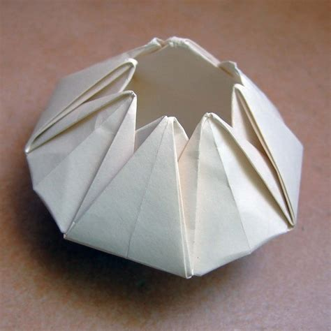 Origami Paper Bowl - 17 best images about vasos origami on