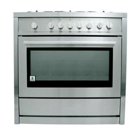 Oven Gas Cosmos cosmo 36 in 3 8 cu ft gas range in stainless steel cos 965ag the home depot