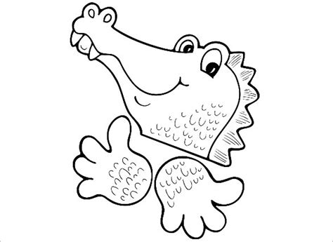 template of crocodile 14 alligator templates crafts colouring pages free premium templates