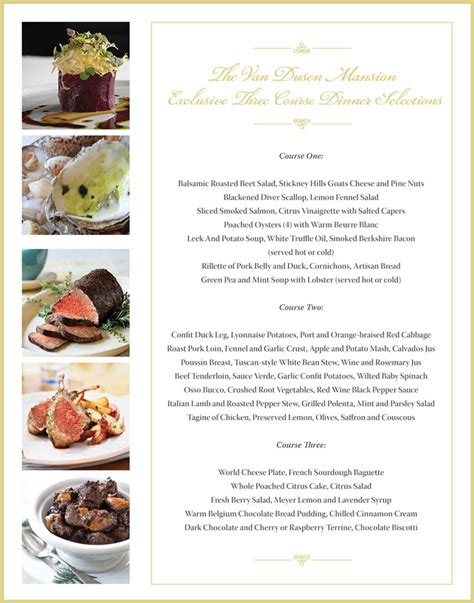 courses for a dinner 3 course dinner menu suzuki cars