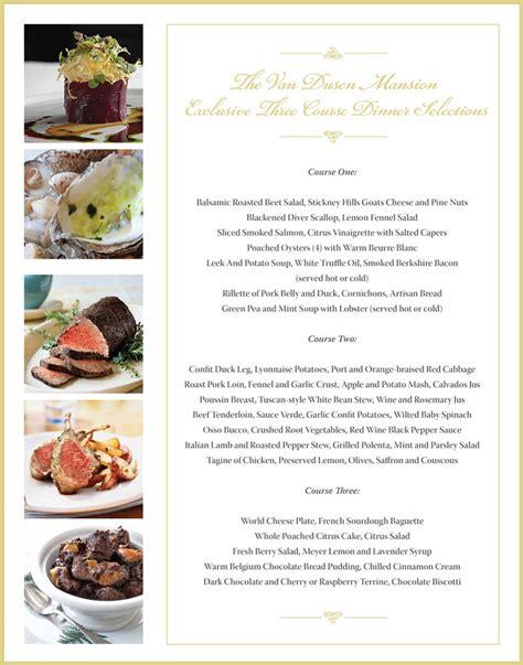 dinner courses 3 course dinner menu suzuki cars