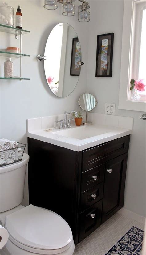 home depot bathroom makeover that s the home depot s gato cafe mirror seen in this