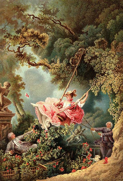 the swing 1767 1700s 1767 the swing by french painter painting by vintage