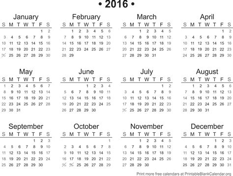 printable version of a 2016 calendar printable calendar 2016 printable blank calendar org