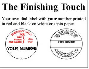 telephone labels template labels