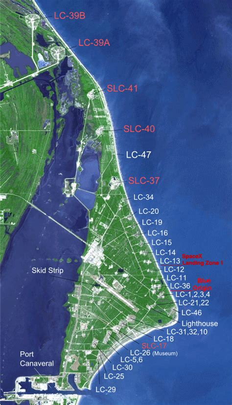 launch maps rocket launch status other kennedy space center information titusville florida