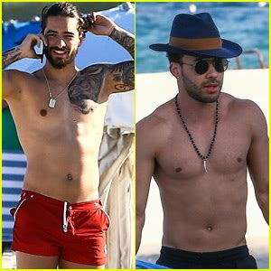 maluma amp prince royce go shirtless on vacation in miami