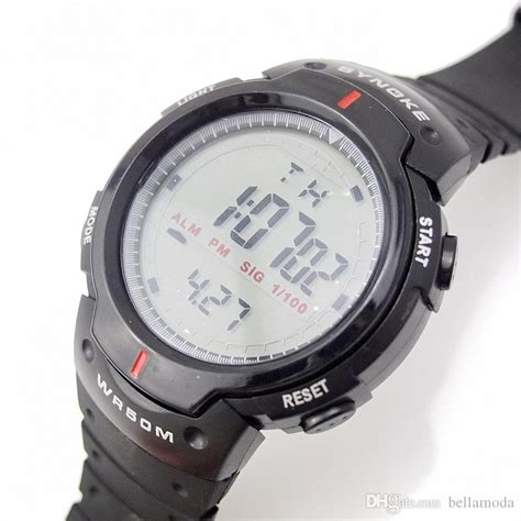 Thalea Digital Sport Wristwatch synoke 61576 led digital sports watches for rubber band running chronograph casual stop