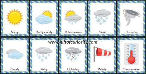 Diy Station by Free Printable Weather Bingo Gift Of Curiosity