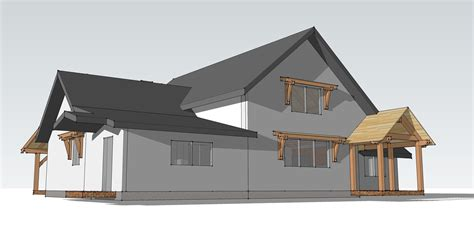 Timber Frame Bungalow Plans by The Fall Creek Cabin A Timber Frame Bungalow