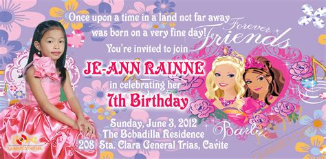 sle invitation card for 7th birthday jomz graphics center complicated simple your