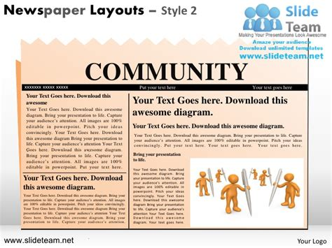 Newspaper Layout And Design Ppt | newspaper layouts design 2 powerpoint ppt slides