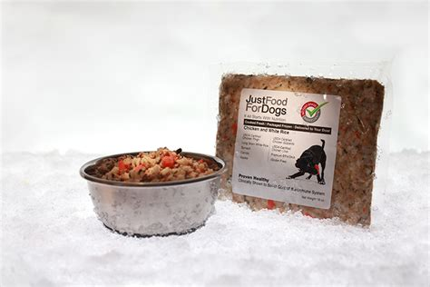 just for dogs just food for dogs packaged frozen