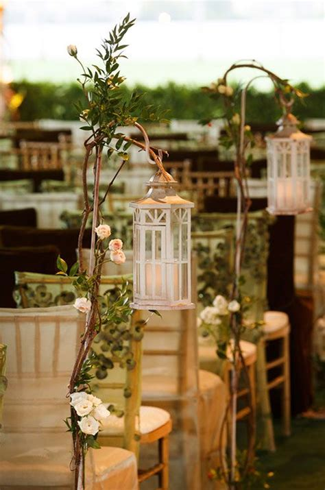 Wedding Aisle With Lanterns by Adorning Weddings With Beautiful Lanterns Decozilla