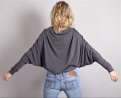 t shirt shrug pattern batwing shrug bolero in gray marl heather grey long