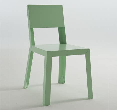 Sheet Metal Chair by Galvanized Steel Chair Interior Design Ideas