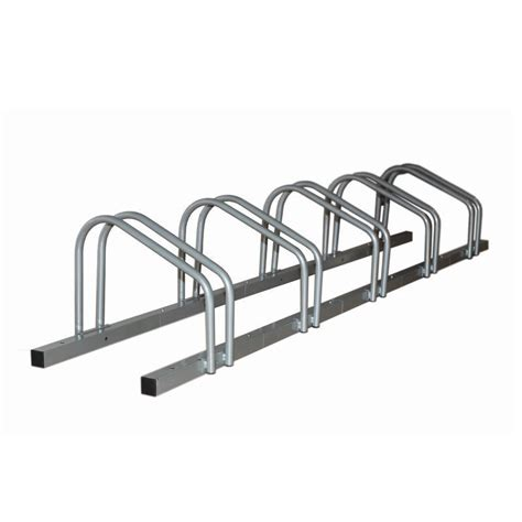 1 5 bike floor parking rack storage stand bicycle silver