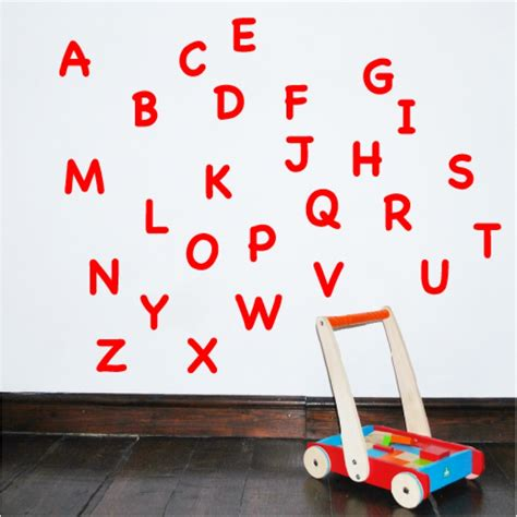 wall sticker alphabet letters uppercase