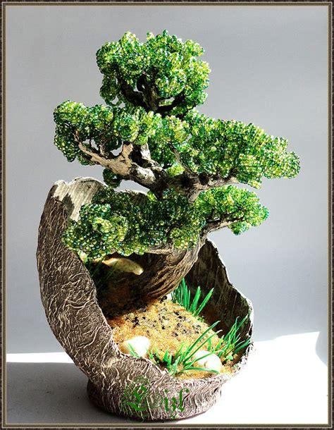 beaded bonsai tree bonsai beaded tree by lizlpa on deviantart