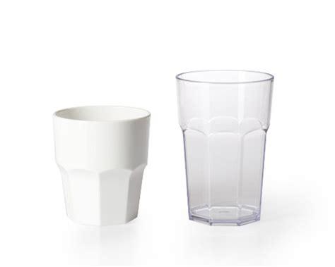 Bicchiere acqua da 30 cl unglassy in plastica altezza 9 cm