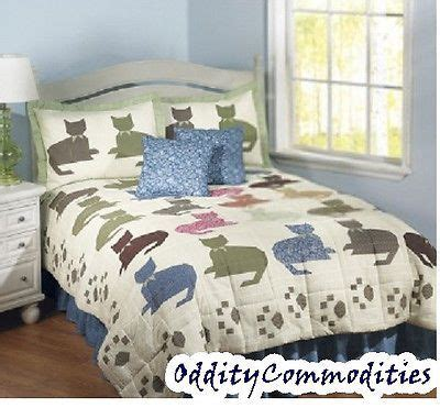 pictures of bedding calico kitty cats kittens 6pc queen size quilt comforter
