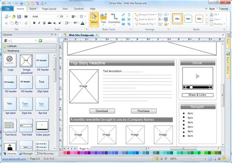 easy wireframe software edraw
