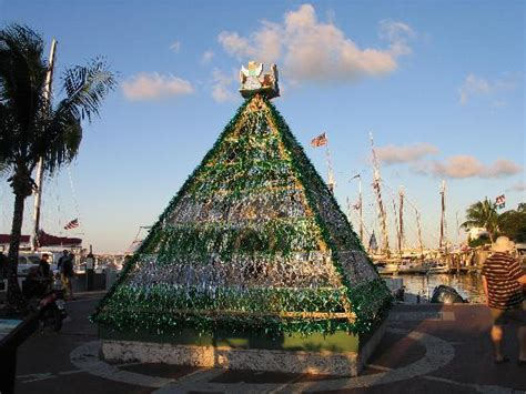 christmas tree in seaport picture of key west florida