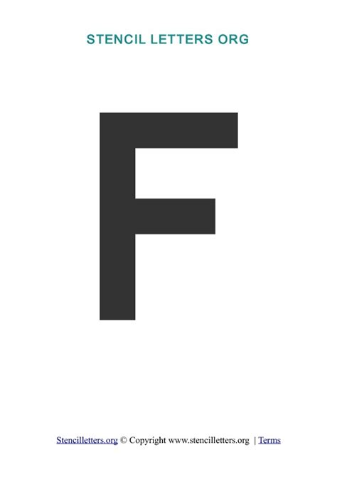 letter f template a z letters in pdf stencil templates style 3 stencil