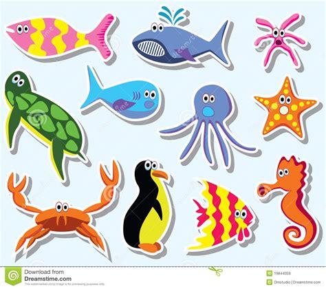 imagenes animales que viven en el mar animales de mar coloridos ilustraci 243 n del vector