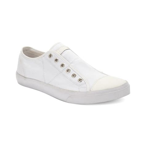 guess sneakers mens guess mens shoes mickey sneakers in white for lyst