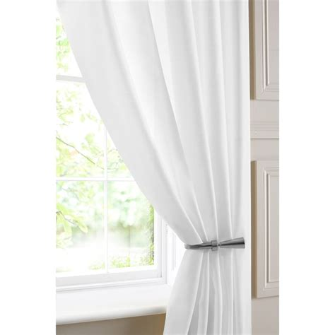 White Voile Curtains Batiste White Voile Panel Closs Hamblin
