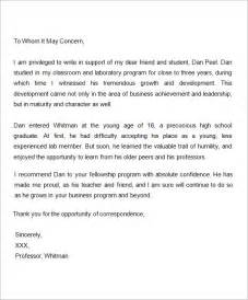 Scholarship Letter Of Recommendation From Professor Sle Letter Of Recommendation For Scholarship 10 Free Documents In Word