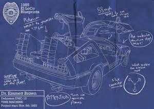 build a blueprint back to the future delorean blueprint movie lover