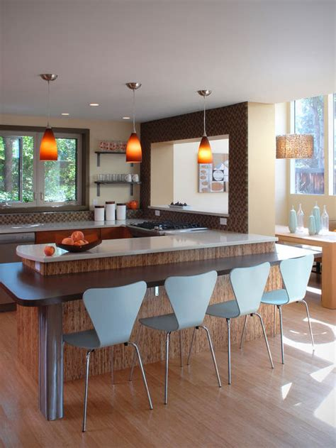 Low Cost Backsplash Ideas - low breakfast bar houzz