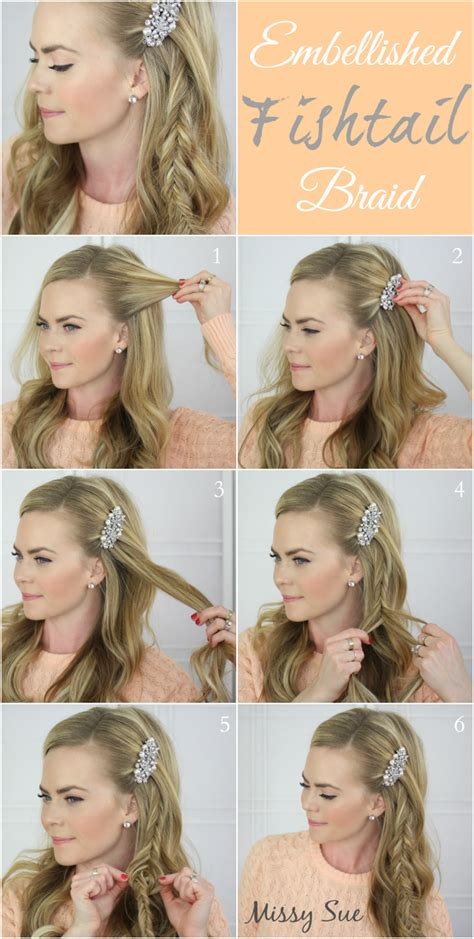 step by step instruction to cut my own hair in to a messypixie embellished fishtail braid missysueblog hair tutorials